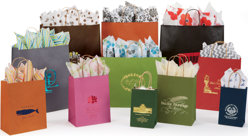 Natural Kraft Tints Shopping Bags