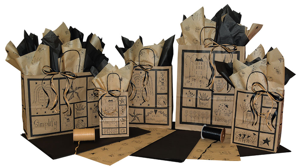 Primitive Blessings Paper Shopping Bags
