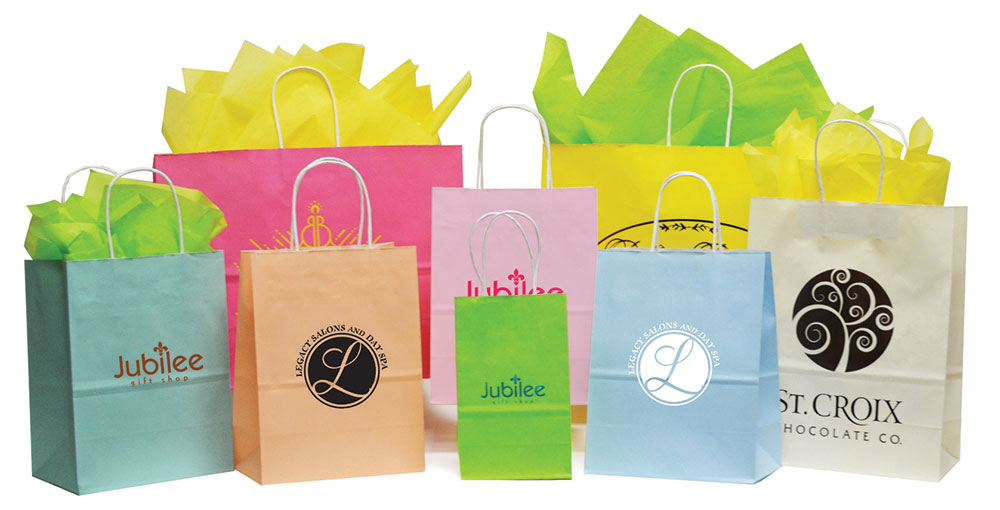 Matte Tints on White Shopping Bags  (MADE IN USA)