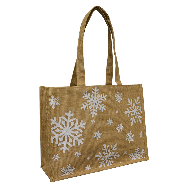 Holiday Jute Shopping Bags (Reusable)