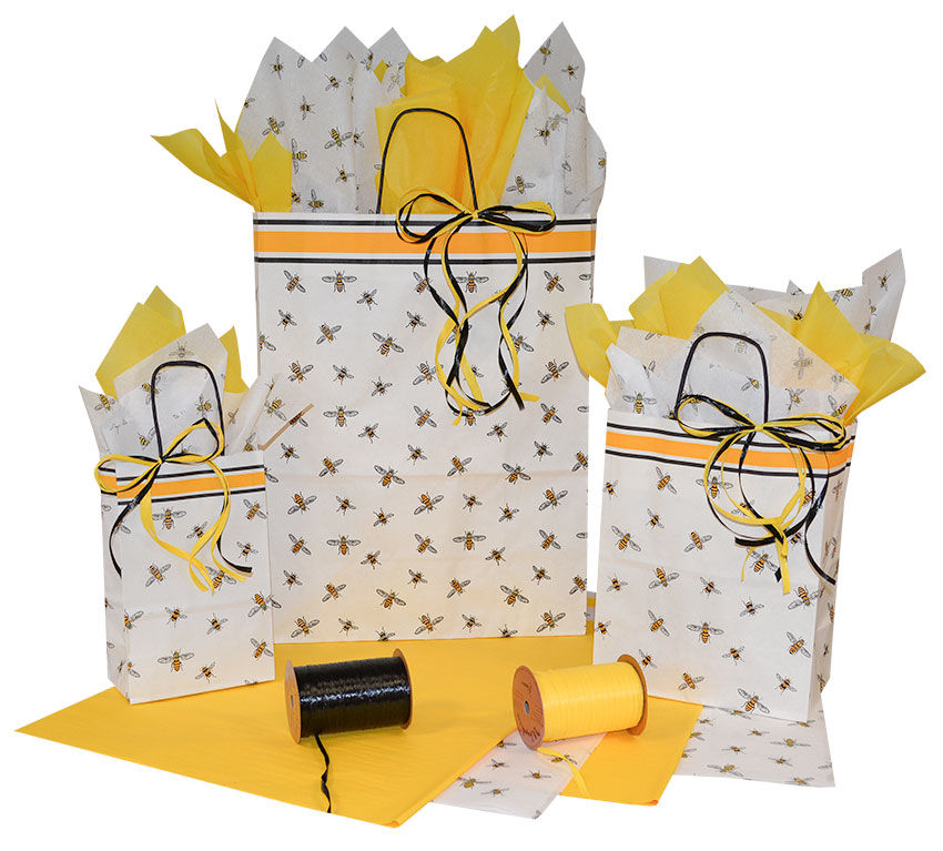 Bees Paper Shopping Bags