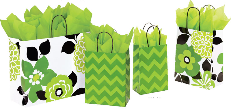 Bold Floral/Chevron Shopping Bags