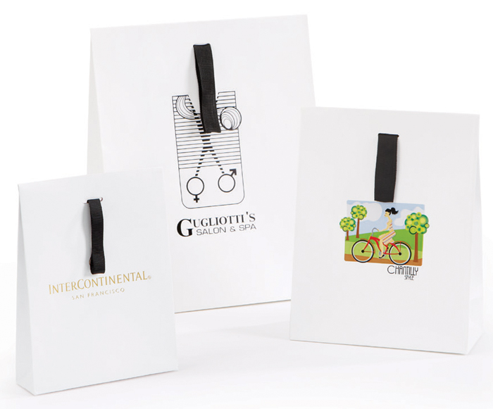 Matte European Shopping Bags with Flap Closure