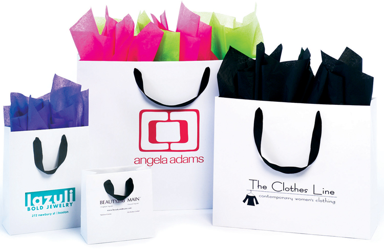 European Shopping Bags with Ribbon Handle