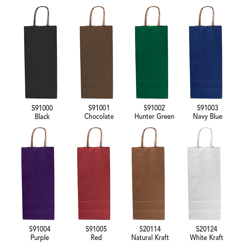 Wine Bottle Paper Shopping Bags