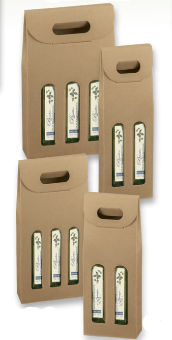 Natural Kraft Olive Oil Bottle Carriers