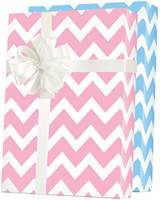 Baby Chevron Reversible Gift Wrap
