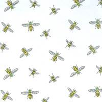 Bees on White Resale Tissue