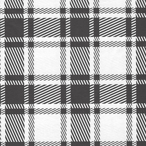 Black & White Plaid Tissue Paper