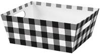 Black and White Plaid Market Tray Market Trays, Gift Basket Packaging
