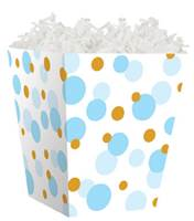 Blue and Gold Dots Sweet Treat Box Sweet Treat Boxes, Gift Basket Packaging