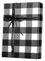 Buffalo Plaid Black/White Gift Wrap Wholesale Gift Wrap Paper, Christmas Gift Wrap Paper