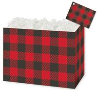 Buffalo Plaid Gift Basket Boxes Gift Basket Boxes, Gift Basket Packaging