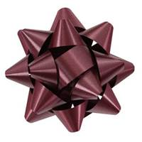 Burgundy Splendorette Star Bows