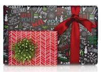 Chalk Text Gift Wrap Paper (Reversible)