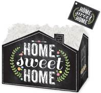 Chalkboard Home Sweet Home Gift Basket Boxes Gift Basket Boxes, Gift Basket Packaging