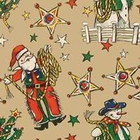 Christmas Ropers Gift Wrap Paper