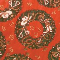 Christmas Wreath Gift Wrap Paper