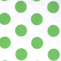 Citrus Polka Dot on White Tissue Paper