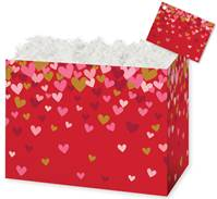 Confetti Hearts Gift Basket Boxes Gift Basket Boxes, Gift Basket Packaging