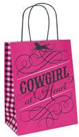 Cowgirl at Heart Paper Shopping Bags