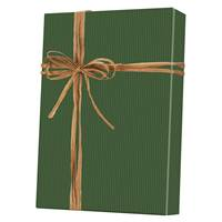 Dark Green Pinstripe Gift Wrap