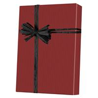 Dark Red Pinstripe Gift Wrap