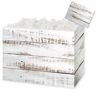 Distressed White Wood Gift Basket Boxes Gift Basket Boxes, Gift Basket Packaging