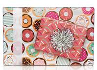Donuts Gift Wrap Paper (Reversible)