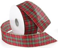 Festival Plaid Holiday Wired Ribbon