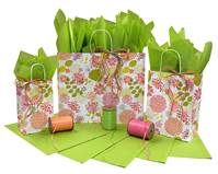 Floral Elements Paper Shopping Bag (Vogue)