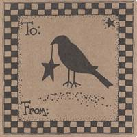 Folk Art Labels - Crow Design
