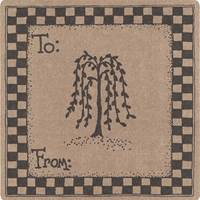 Folk Art Labels - Tree Design