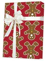 Gingerbread Men Gift Wrap Wholesale Gift Wrap Paper, Christmas Gift Wrap Paper