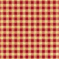 Gingham Red on Kraft Tissue Paper