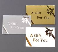 Gold on Gold Folding Gift Cards