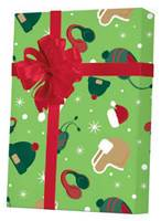 Hats & Snow Gift Wrap Wholesale Gift Wrap Paper, Christmas Gift Wrap Paper