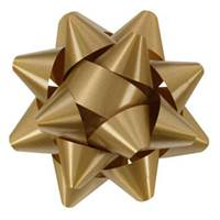 Holiday Gold Splendorette Star Bows