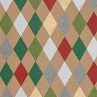 Holiday Harlequin Kraft Tissue Paper