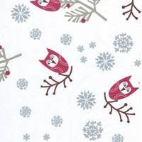 Holiday Owls Tissue Paper
