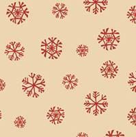 Homespun Snowflake Kraft Tissue Paper