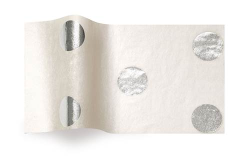 Hot Spots Tissue Paper - Silver