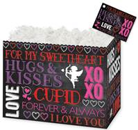 Hugs and Kisses Chalkboard Gift Basket Boxes Gift Basket Boxes, Gift Basket Packaging