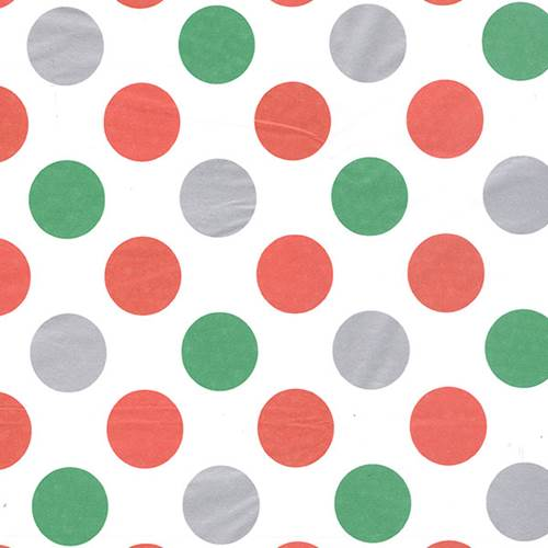 Jolly Dots Tissue Paper (Metallic Silver Dots)