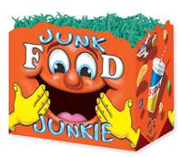 Junk Food Junkie Gift Basket Boxes Gift Basket Boxes, Gift Basket Packaging