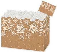 Kraft Snowflakes Gift Basket Boxes Gift Basket Boxes, Gift Basket Packaging