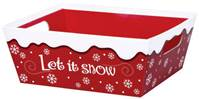 Let it Snow Market Tray Market Trays, Gift Basket Packaging