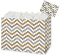 Metallic Chevron Gift Basket Boxes Gift Basket Boxes, Gift Basket Packaging