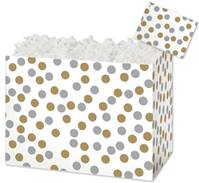 Metallic Dots Gift Basket Boxes Gift Basket Boxes, Gift Basket Packaging