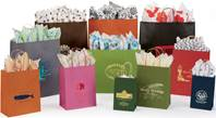 Natural Kraft Tint Shopping Bags (Pup)
